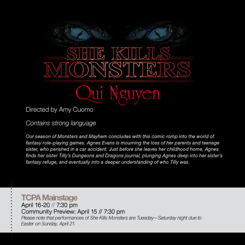 UWG Theatre Dept  Presents She Kills Monsters @ The Townsend Center